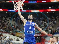 190912 SHANGHAI Sept 12 2019 Tomas Satoransky of the Czech Republic dunks during the clas
