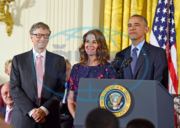 Bill and Melinda Gates Receive the Presidential Medal of Freedom,  prezident Barack Obama