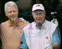 Bill Clinton George H.W. Bush - prezident politik golf sport