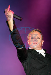 Keith Flint,  zpěvák,  The Prodigy,  gesto
