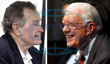 GEORGE H.W. BUSH,  JIMMY CARTER