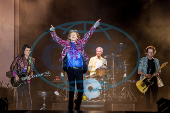 RONNIE WOOD,  MICK JAGGER,  CHARLIE WATTS,  KEITH RICHARDS,  Rolling Stones,  koncert