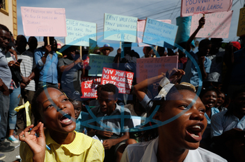 Haiti-demonstrace, APTOPIX